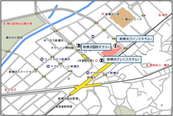 新横浜ホテル案内図